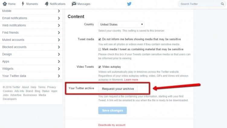 Melihat Tweet Lama Dengan Cara Meminta Arsip Twitter via Website Twitter